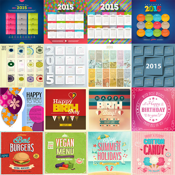 Birthday Calendar Template 2015